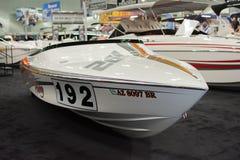 Boot auf Anzeige am Los Angeles-Boot stellen am 7. Februar 2014 dar Stockfoto