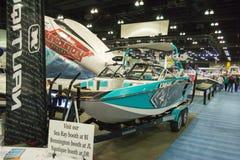 Boot auf Anzeige am Los Angeles-Boot stellen am 7. Februar 2014 dar Lizenzfreies Stockfoto