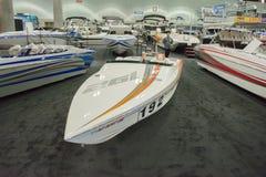 Boot auf Anzeige am Los Angeles-Boot stellen am 7. Februar 2014 dar Stockbild