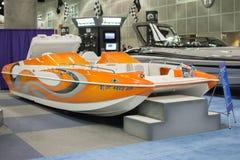 Boot auf Anzeige am Los Angeles-Boot stellen am 7. Februar 2014 dar Lizenzfreie Stockfotografie