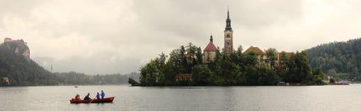 Boot auf Bled See Stockbild