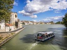 Boot auf Canal du Midi lizenzfreie stockbilder