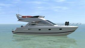 Boot auf dem Meer stock video