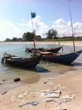 Boot auf dem Meer Stockbild