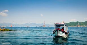 Boot auf dem Meer Stockfotografie