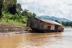 Boot auf dem Mekong Lizenzfreie Stockfotografie