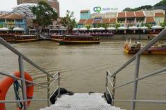 Boot auf dem river2 Lizenzfreie Stockfotografie