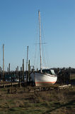 Boot auf dem Riverbank Fluss Wyre Lizenzfreie Stockfotografie