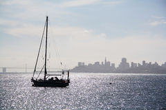 Boot auf dem Schacht Stockfotografie