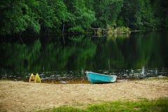 Boot auf dem See Stockbilder