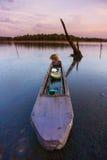 Boot auf dem See Stockfotos