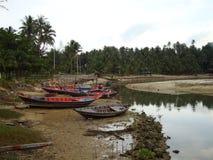 Boot auf dem Strand. Stockfoto