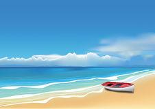Boot auf dem Strand vektor abbildung