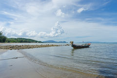 Boot auf dem Strand stockfotografie