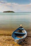 Boot auf dem Strand Stockfoto