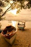 Boot auf dem Strand Stockbild
