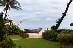 Boot auf dem Strand vietnam Lizenzfreies Stockbild