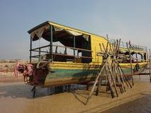 Boot auf der Reparatur Lizenzfreie Stockfotos