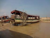 Boot auf der Reparatur Lizenzfreies Stockfoto