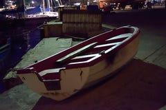 Boot auf Dock Stockfoto