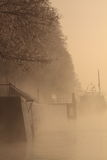 Boot auf einem Fluss Stockbild
