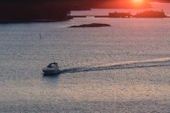 Boot auf einem Meer Lizenzfreies Stockfoto