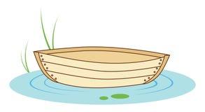 Boot auf einem Teich Stockfotos