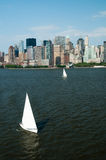 Boot auf Hudson-Fluss Stockfotografie