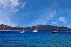 Boot auf Meer Stockbild
