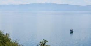 Boot auf Ohrid See Stockbilder