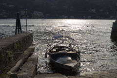 Boot auf See Maggiore Lizenzfreies Stockfoto