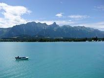 Boot auf See Thun, die Schweiz Stockbilder