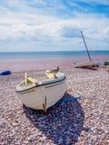 Boot auf Strand Stockbild