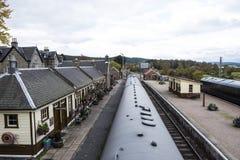 Boot Bahnhofs Garten, schottische Hochländer Stockbilder