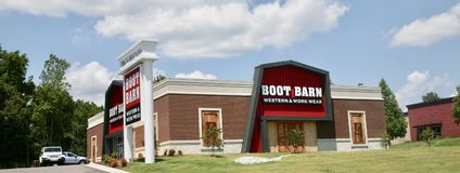 Boot Barn Western Store. Has the lowest prices on boots and apparel in the Mid-South Area Royalty Free Stock Photography