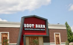 Boot Barn Western and Work Wear. Boot Barn Western and Work Store has the lowest prices on boots and apparel in the Mid-South Area Royalty Free Stock Photos
