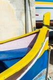 Boot bij de haven Stock Foto's