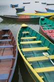 Boot bij Meer Phewal in Pokhara Royalty-vrije Stock Foto