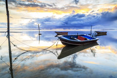 Boot bij Tanjung-arustrand, Labuan Maleisië 09 royalty-vrije stock fotografie