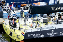 Boot Brunel in Cape Town Abu Dhabi Ocean Racing Lizenzfreie Stockbilder
