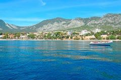Boot in Cala Gonone royalty-vrije stock afbeeldingen