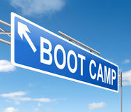 Boot camp concept. Stock Images