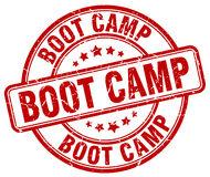 Boot camp red grunge round rubber stamp Royalty Free Stock Photography
