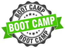Boot camp seal. stamp. Boot camp round seal isolated on white background. boot camp stock illustration