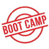 Boot Camp rubber stamp. Grunge design with dust scratches. Effects can be easily removed for a clean, crisp look. Color is easily changed stock illustration
