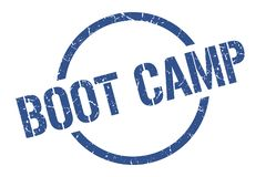 Boot camp stamp. Boot camp round grunge stamp. boot camp sign. boot camp royalty free illustration