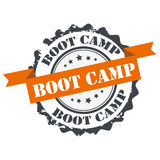 Boot camp stamp Royalty Free Stock Photo