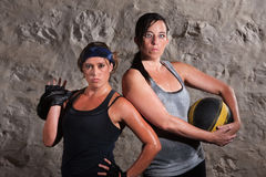 Boot Camp Traning Women Holding Equipment Stock Photography