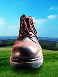 Boot in countryside Royalty Free Stock Image