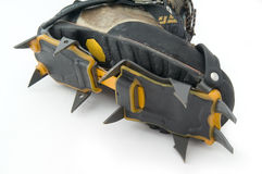 Boot with crampons. Stock Photography
